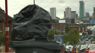 Uncollected bin bags