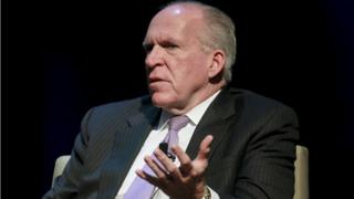John Brennan speaking at George Washington University