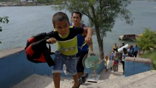 Residents of Granma Island, Cuba are evacuated