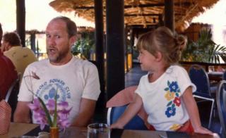 David Coles y su hija Robyn.