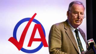 AfD politician Alexander Gauland speaks at AfD youth meeting in Seebach, 2 Jun 18