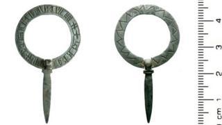 Medieval Silver Annular Brooch