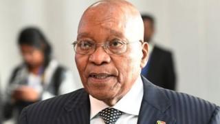 Aliyekuwa rais wa Afrika Kusini Jacob Zuma