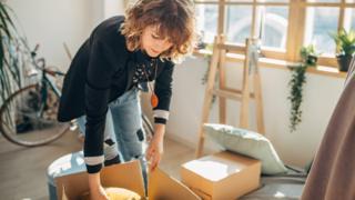 environment Woman unpacking