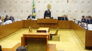 Plenário do Supremo na época do mensalão