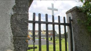 The burial site at Tuam mother and baby home in County Galway