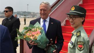 美國國防部長馬蒂斯抵達北京訪問,外界預料馬蒂斯此行主要會就朝鮮核問題與中方對話,也可能談到南海問題。