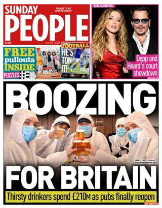 The Sunday People front page 05.07.20
