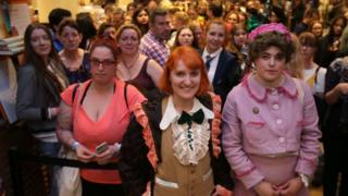 Harry Potter fans gather for the launch of the new book