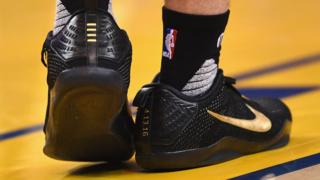 A detail view of the Nike sneakers worn by Jordan Farmar #4 of the Memphis Grizzlies in the first half during the game against the Golden State Warriors at ORACLE Arena on April 13, 2016 in Oakland, California.