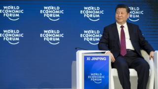 Xi Jinping, Cina, Davos