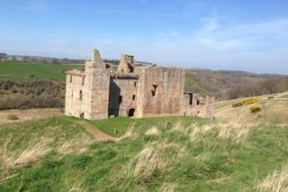 Crichton Castle in Midlothian