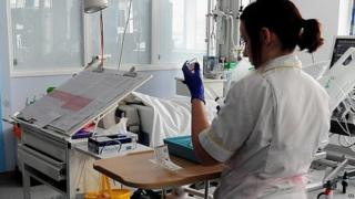 Nurse on hospital ward