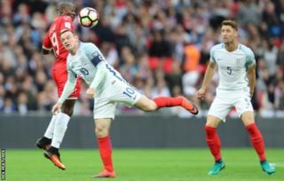 Wayne Rooney akicheza dhidi ya Malta