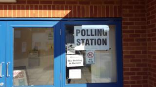 Polling station in Rendlesham