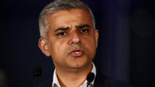 Sadiq Khan speaking at City Hall after his election win was announced on 7 May 2016