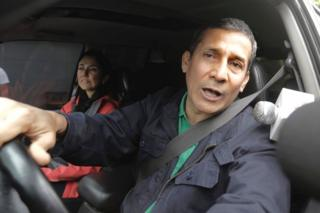 A Ollanta Humala, quien fuera presidente de Perú entre 2011 y 2016, y su esposa Nadine Heredia.