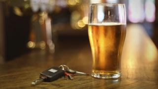 Pint of beer and car keys