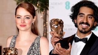 Emma Stone and Dev Patel
