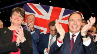 DUP leader Arlene Foster and DUP deputy leader Nigel Dodds