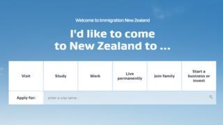 Сайт IMMIGRATION NEW ZEALAND