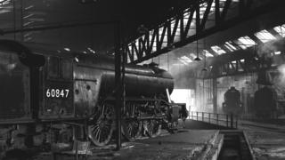 York engine shed in 1951