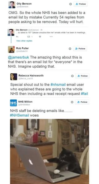 NHS send-to-all email causes turmoil