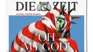 Die Zeit frontpage, 10 Nov 16