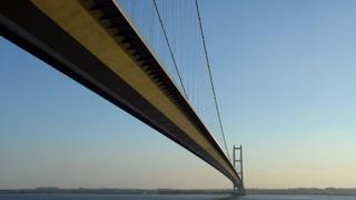 Humber Bridge taken from Hessle Foreshore near Hull