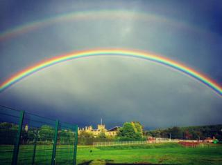 Double rainbow in Fochabers
