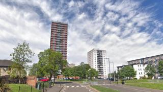 Two Muirhouse high rise flats