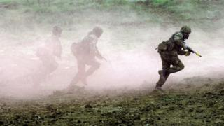 Soldiers on training exercise