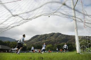 Coniston defending against Penrith in 2008