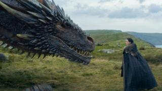 Jon Snow and Drogon