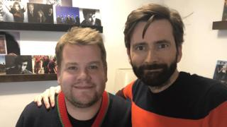 James Corden and David Tennant