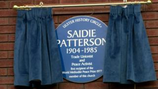 Saidie Patterson's Blue Plaque