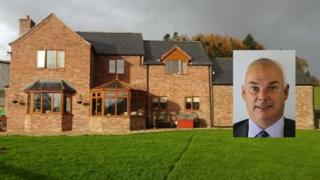 Dai Davies and his property, Maes y Nant, Berriew