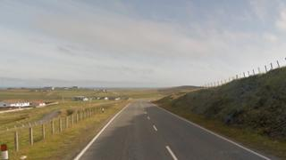 The accident happened on the A970 between Quarff and Cunningsburgh