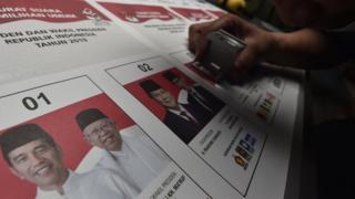 Jokowi, Maruf, Sandiaga, Prabowo, Pilpres, surat suara
