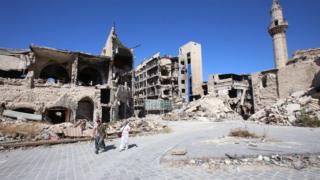 Halep'in Han el Vezir pazarı