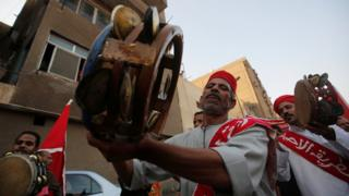 Sufi Egyptians playing tambourines in Cairo, Egypt - Sunday 2 October 2016