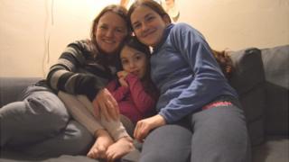 Gaynor Barrett with her children