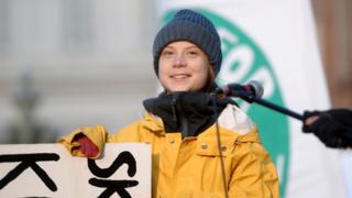 Greta Thunberg in Turin on 13 December