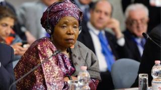 """""""Avec .africa, je dirais que l'Afrique a enfin son identité numérique"""", a déclaré Mme Zuma."""