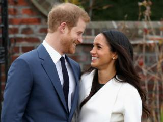 Prince Harry and Meghan Markle during an official photo call to announce their engagement