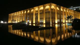 O prédio do Itamaraty, em Brasília