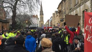 Protest at the Oxford Union