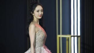 Actress Yang Mi arrives at the red carpet of 2019 Tencent Star Awards on December 28, 2019 in Beijing, China.