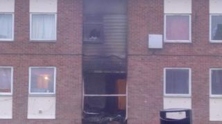 Damaged building in Devizes