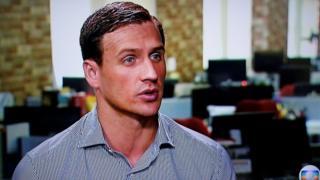 Ryan Lochte en una entrevista a Globo TV el 20 de agosto de 2016